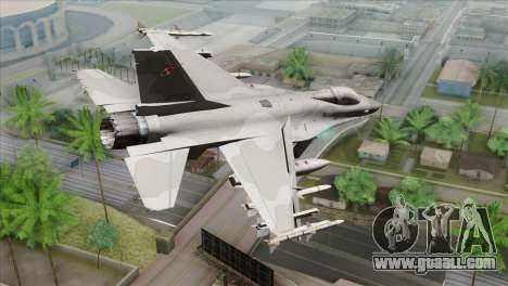 F-16C Jastrzab for GTA San Andreas left view