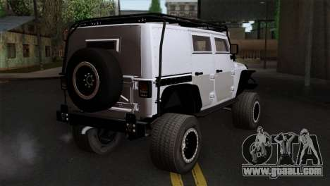 Jeep Wrangler 2013 Fast & Furious Edition for GTA San Andreas left view