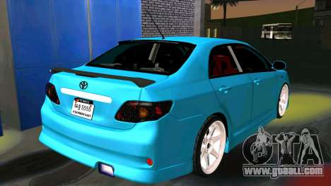 Toyota Corolla Altis for GTA San Andreas back left view