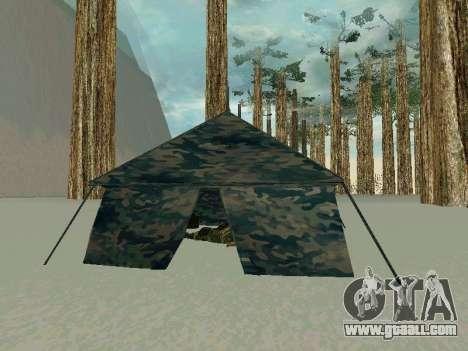 Tent for GTA San Andreas second screenshot