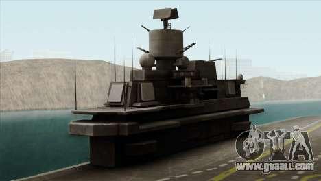 Admiral Kuznetsov Class for GTA San Andreas back view