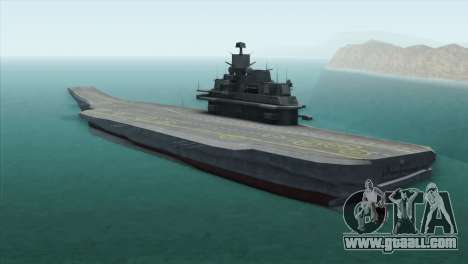 Admiral Kuznetsov Class for GTA San Andreas left view