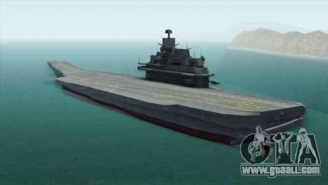 Admiral Kuznetsov Class for GTA San Andreas left view