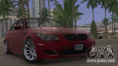 BMW M5 E60 2009 Stock for GTA San Andreas