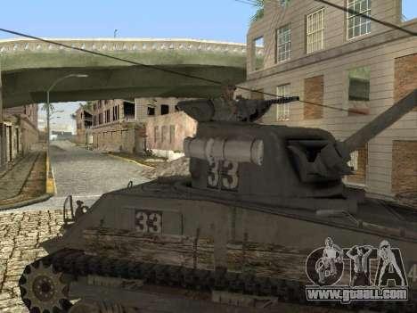 Tank M4 Sherman for GTA San Andreas left view