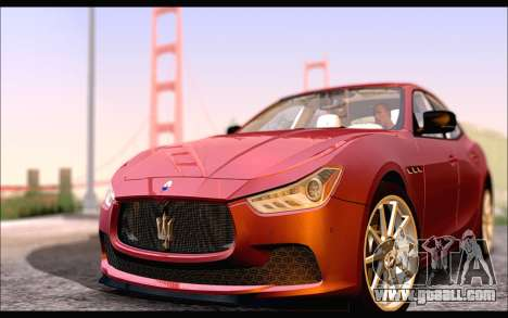 Maserati Ghibli 2014 for GTA San Andreas