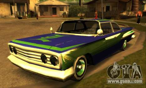 Luni Voodoo for GTA San Andreas back left view