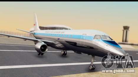 Embraer 175 PLL LOT Retro for GTA San Andreas