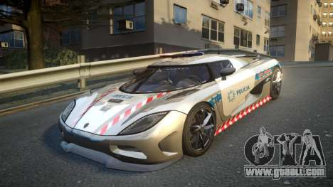 Koenigsegg Agera Polish Highway Patrol Police for GTA 4