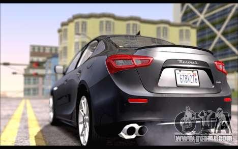 Maserati Ghibli 2014 for GTA San Andreas left view