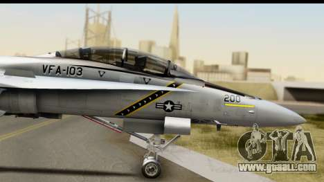 FA-18D VFA-103 Jolly Rogers for GTA San Andreas back left view