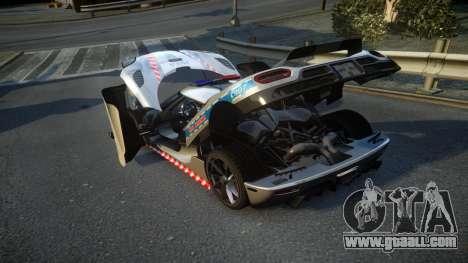 Koenigsegg Agera Polish Highway Patrol Police for GTA 4 side view