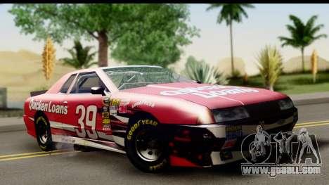 Elegy NASCAR for GTA San Andreas back view
