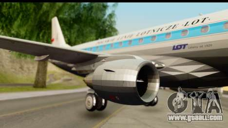 Embraer 175 PLL LOT Retro for GTA San Andreas back left view