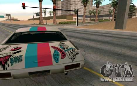 Clover Blink-182 Edition for GTA San Andreas back left view