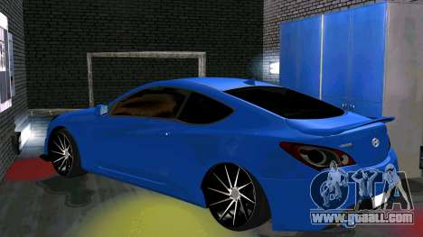 Hyundai Genesis Coupe for GTA San Andreas back view