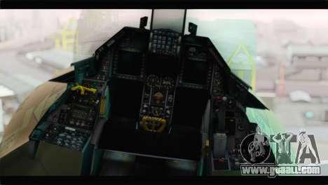 F-16A Fuerza Aerea Venezolana for GTA San Andreas back view