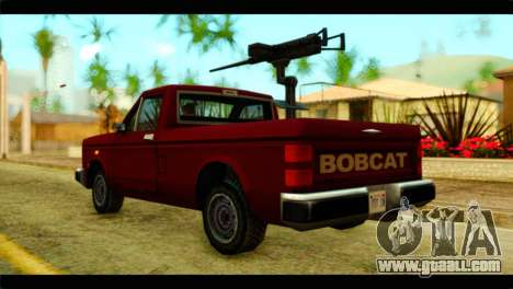 Bobcat Technical Pickup for GTA San Andreas left view