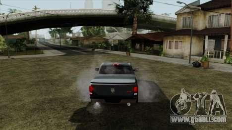 Dodge Ram QuickSilver for GTA San Andreas back left view