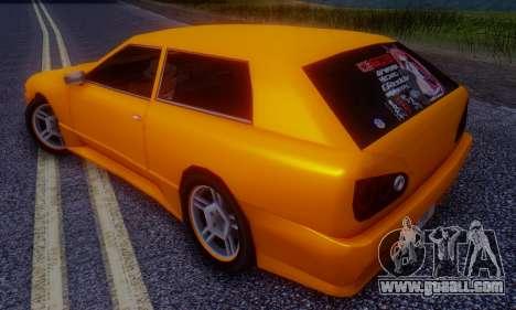 Elegy Hatchback v.1 for GTA San Andreas back left view