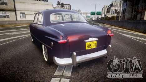 Ford Custom Tudor 1949 v2.2 for GTA 4 back left view
