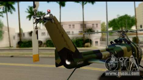 MBB Bo-105 Army for GTA San Andreas right view