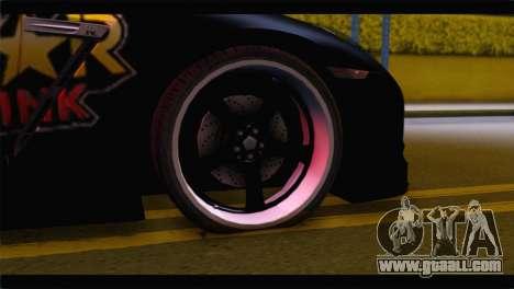 Nissan Skyline GTR Rockstar Energy for GTA San Andreas back left view
