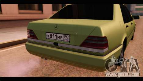 Mercedes-Benz W140 for GTA San Andreas back view