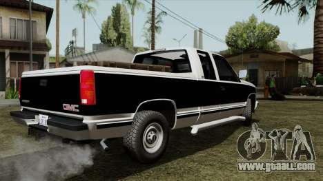 GMC Sierra 2500 1992 Extended Cab Final for GTA San Andreas left view