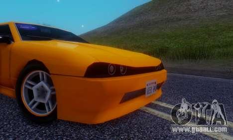 Elegy Hatchback v.1 for GTA San Andreas inner view