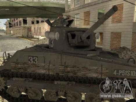 Tank M4 Sherman for GTA San Andreas right view