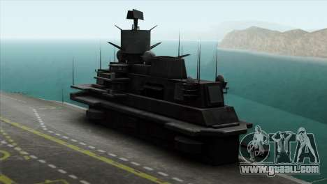 Admiral Kuznetsov Class for GTA San Andreas back left view