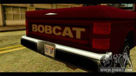 Bobcat Technical Pickup for GTA San Andreas back view