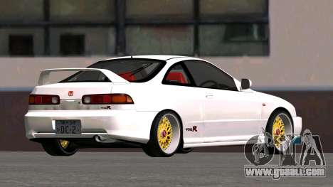 Honda Integra Type R 2000 for GTA San Andreas back left view