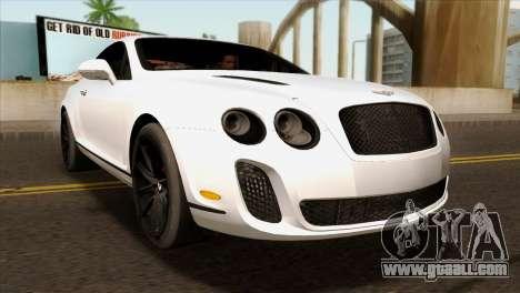 Bentley Continental SS 2010 for GTA San Andreas