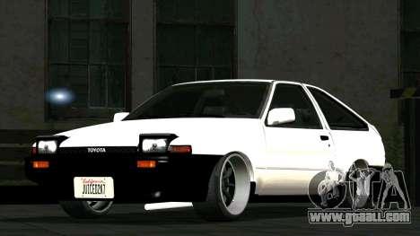 Toyota Sprinter Trueno AE86 for GTA San Andreas
