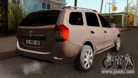 Dacia Logan MCV 2013 IVF for GTA San Andreas left view