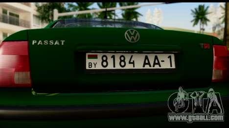 Volkswagen Passat B5 for GTA San Andreas right view