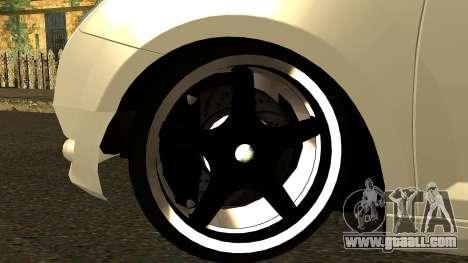 Alfa Romeo Mito Tuning for GTA San Andreas inner view