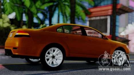 Vapid Interceptor v2 SA Style for GTA San Andreas back left view