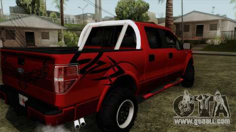 Ford F150 Off Road for GTA San Andreas left view