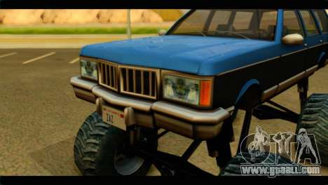 Monster Regina for GTA San Andreas back view