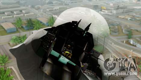 F-16C Jastrzab for GTA San Andreas back view