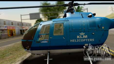 MBB Bo-105 KLM for GTA San Andreas right view