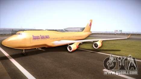 GTA V 747 Adios Airlines for GTA San Andreas