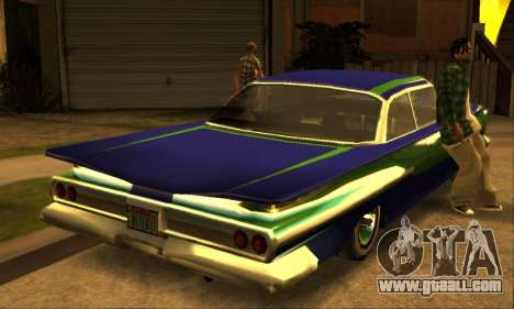 Luni Voodoo for GTA San Andreas back view
