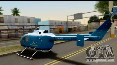 MBB Bo-105 KLM for GTA San Andreas left view