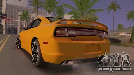 Dodge Charger SRT8 2012 Stock Version for GTA San Andreas back left view
