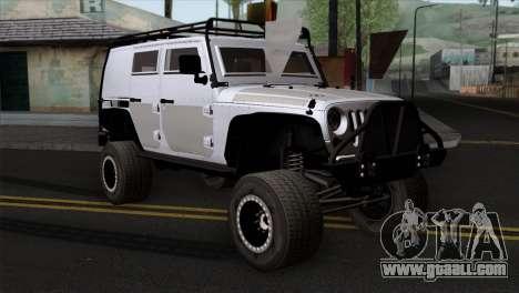 Jeep Wrangler 2013 Fast & Furious Edition for GTA San Andreas