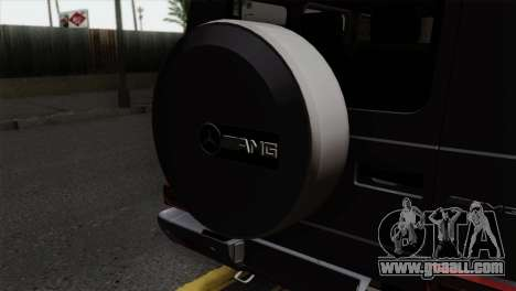 Mercedes-Benz G65 AMG Carbon Edition for GTA San Andreas back view